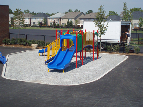 Backyard Playground Surface : Rubber playground surface for outdoor tracks and sport areas